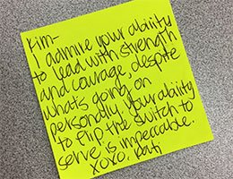 Post-It Displays Of Appreciation (PDAs)
