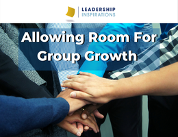 Allowing Room For Group Growth