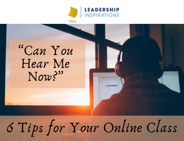 """Can You Hear Me Now?"" – Tips for Your Online Class"