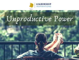 Unproductive Power